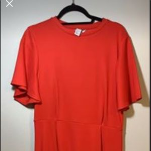 Red H&M's Dress Size Large 12/14